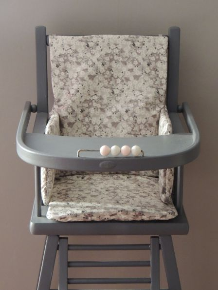 Coussin liberty mitsy gris clair
