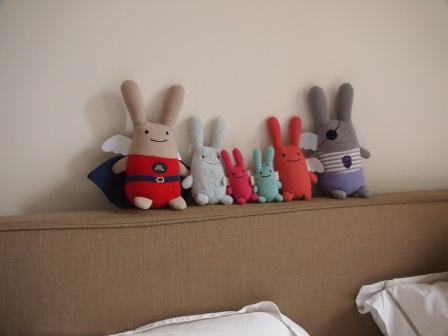 Famille anges lapins Trousselier