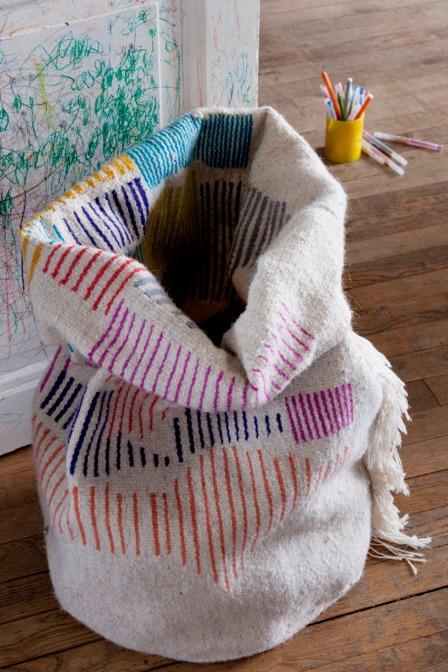 Panier en laine  © Wool Fabrique